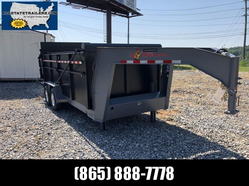 2019 B-Wise (7 x 16) DUG16-15 Ultimate Gooseneck Dump Trailer