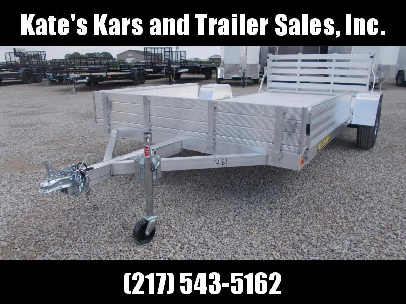 14' Aluma Aluminum 8114 ATV Trailer Bi-fold Tailgate Utility Trailer