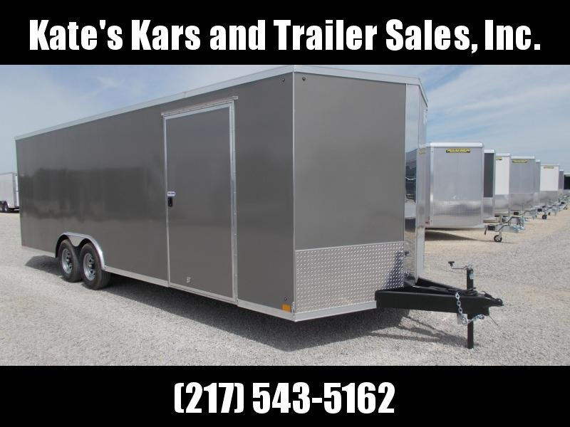 HEAVY DUTY!! Cross 8.5X24' Screwless Sides Enclosed Cargo Car Trailer