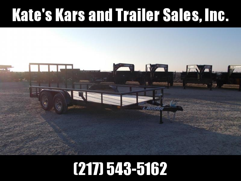 *NEW* Lamar 16' PIPETOP Utility Trailer Tandem Axle