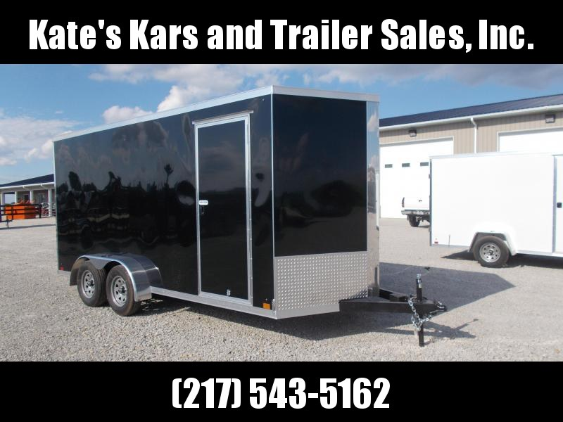 "NEW Cross Trailers 7X16' Extra Tall 16"" OC Crossmembers Enclosed Cargo Trailer"