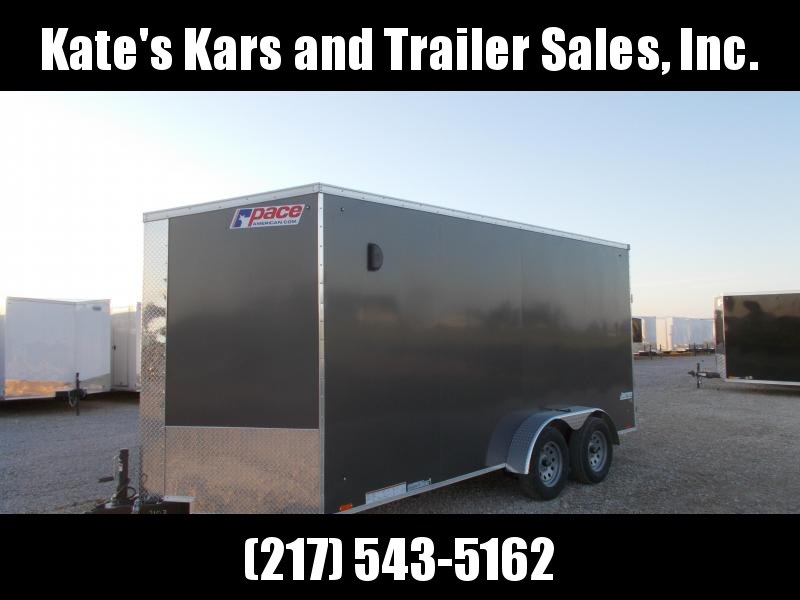 2020 Pace American 7X16 Extra Tall Screwless Enclosed Cargo Trailer