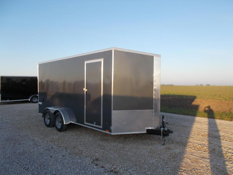 BEST DEAL!! Pace 7X16' Extra Tall Screwless Enclosed Cargo Trailer for sale