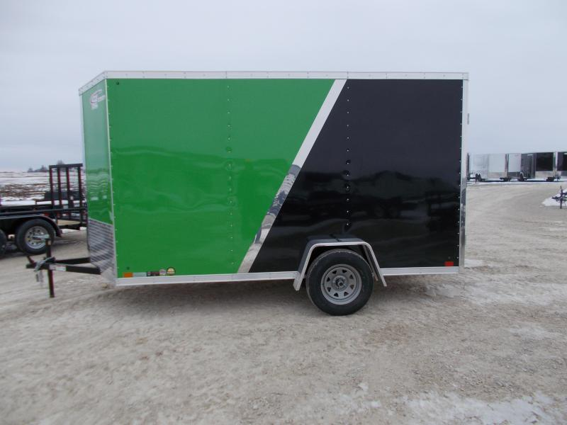 ARCTIC Green and black Cross 6X12' Extra Tall HD Enclosed Cargo Trailer for sale