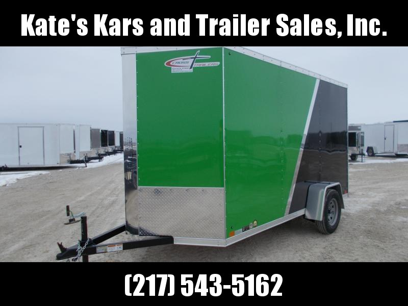 ARCTIC Green and black Cross 6X12' Extra Tall HD Enclosed Cargo Trailer for sale in Ashburn, VA