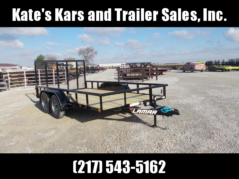 *NEW* Lamar 14' Utility Trailer spring loaded gate