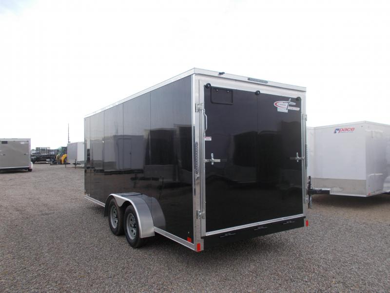L@@K at this Cross 7X18' HD Construction Enclosed Cargo Trailer