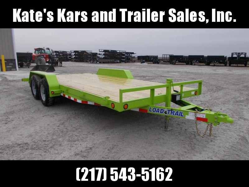 *NEW* Load Trail 83X18' Safety Green 9990 LB Equipment Trailer