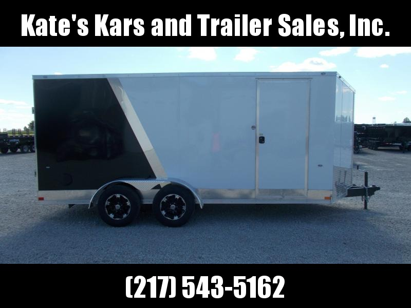 "*NEW* Formula TWO TONE 7X16"" 6' Additional Height Enclosed Cargo Trailer"