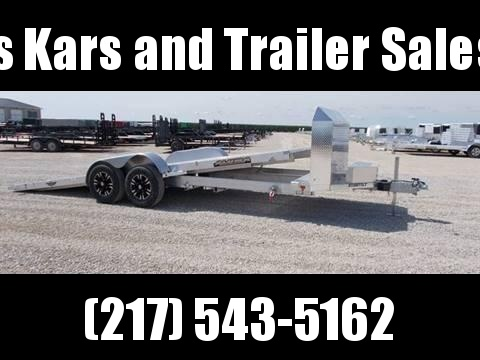 L@@K At These wheels Aluma 8220HTilt 20' Anniversary Edition Car Hauler Aluminum Trailer