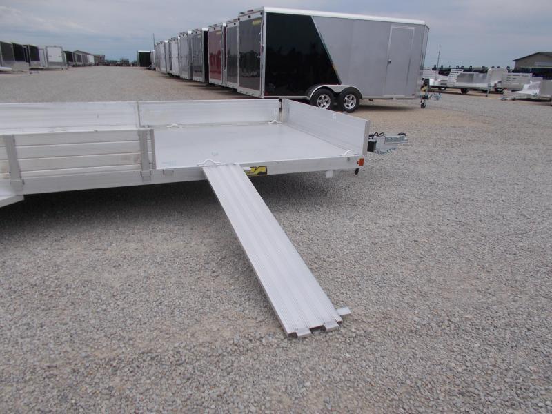 2020 Aluma 8122TA Aluminum 22' ATV UTV Utility Trailer with side load