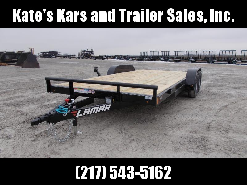 2019 Lamar Trailers 83x18 Car Trailer Flatbed Trailer