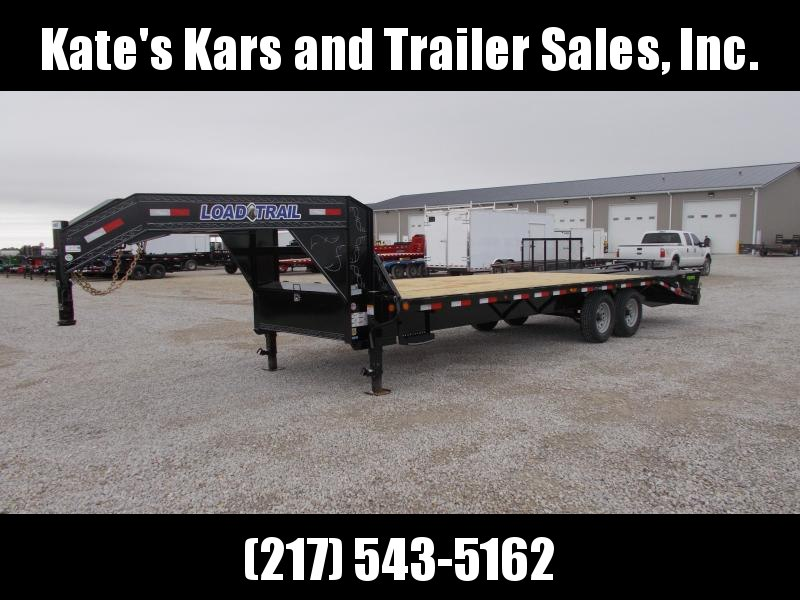 HEAVY DUTY!! Load Trail 25' Gooseneck Trailer 14K LB Deckover Flatbed