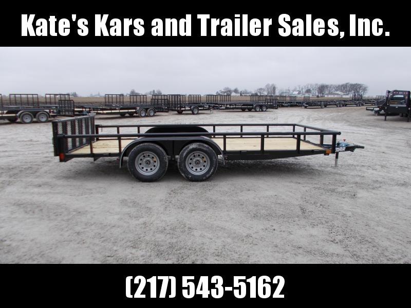 **NEW** 2019 Lamar 16' Tandem axle utility trailer Bi Fold Gate ATV Trailer