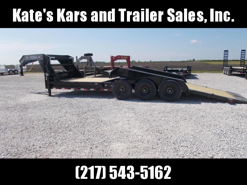 GOOSENECK  Load Trail 83X24' Tilt Trailer 21K GVWR Equipment Trailer