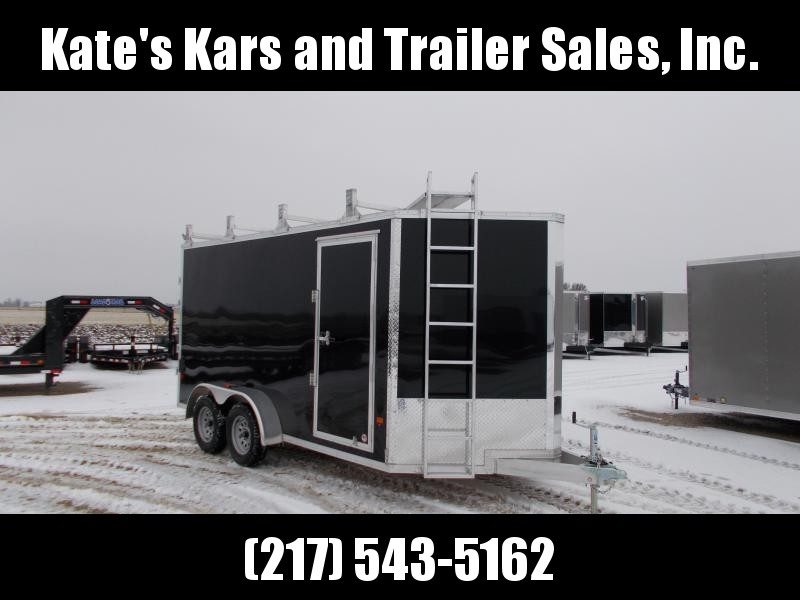 EZ Hauler 7X14' Extra Tall Construction Trailer ALUMINUM Enclosed cargo