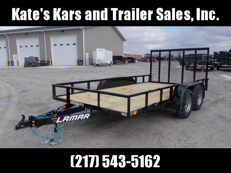*NEW* Lamar 14' Tandem Axle Utility Trailer 4 brakes LED