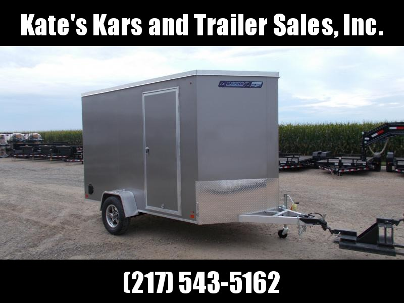 NEW Aluma ESW610R Enclosed Cargo 6X10 Aluminum Trailer