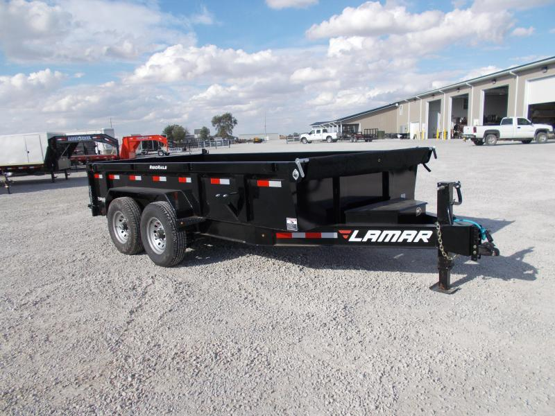 *NEW* Lamar Heavy Duty 14' Dump Trailer 14K LB 7GA Floor