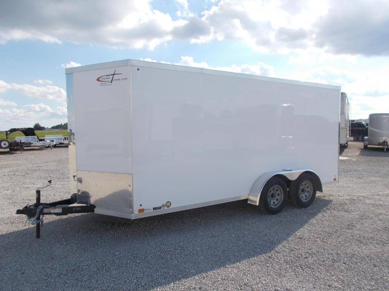 "*NEW* Cross Trailers 7X16' 12"" Extra Height Screwless Enclosed Cargo Trailer"