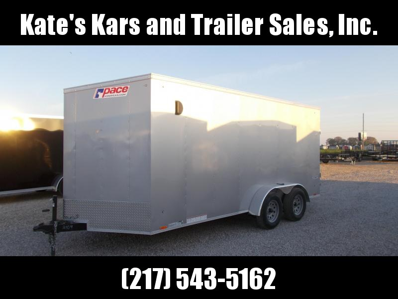 2020 Pace American 7X16 Extra Tall Enclosed Cargo Trailer