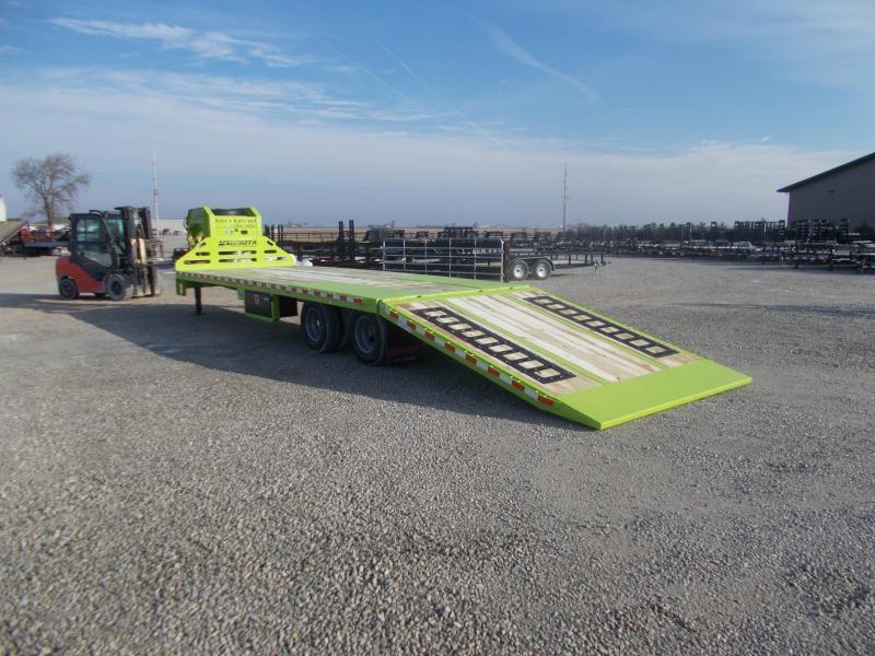 *NEW*  Midsota FB32' GN Hydraulic Dovetail Gooseneck Trailer Flatbed Trailer Hydro Jacks