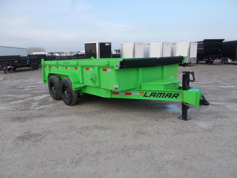 *NEW* Lamar 14' Dump Trailer 14K LB HD7 GA Floor