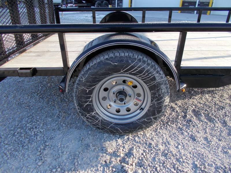 2019 Lamar Trailers 77X10 PipeTop Utility Trailer Bi Fold Gate ATV Trailer