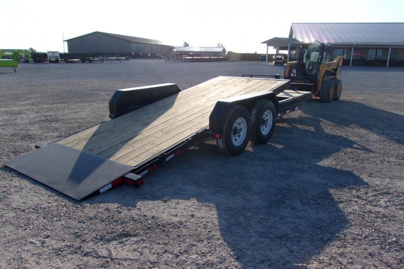 PJ 20' Tiltbed 14000 LB Equipment Trailer 16'+4'
