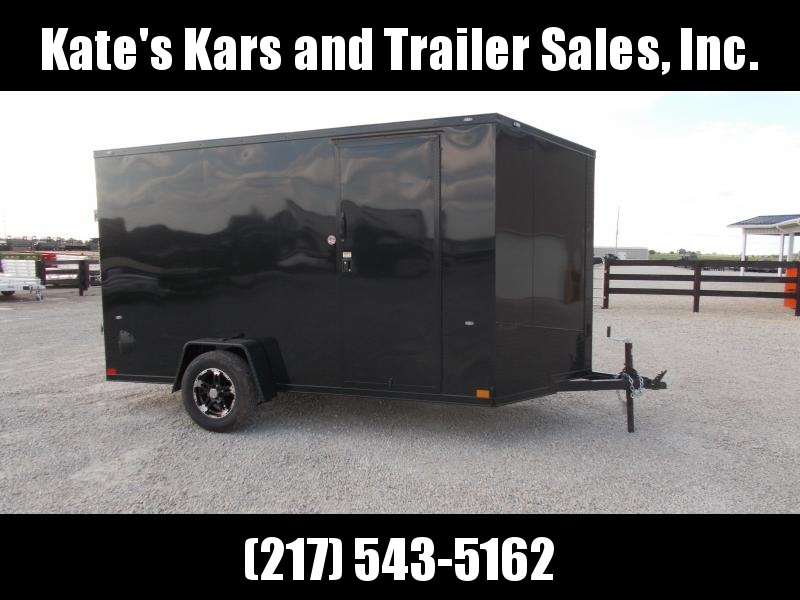 "BlackOut Formula Trailers 6X12' 6"" Additional Height Screwless Sides Enclosed Cargo Trailer"