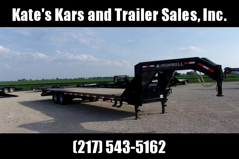 *NEW* Iron Bull 102X32' Tandem Dual Gooseneck Equipment Trailer deckover