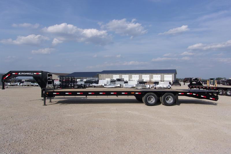 *NEW* DISCOUNTED MUST GO Iron Bull 102X32' Tandem Dual Gooseneck Equipment Trailer deckover