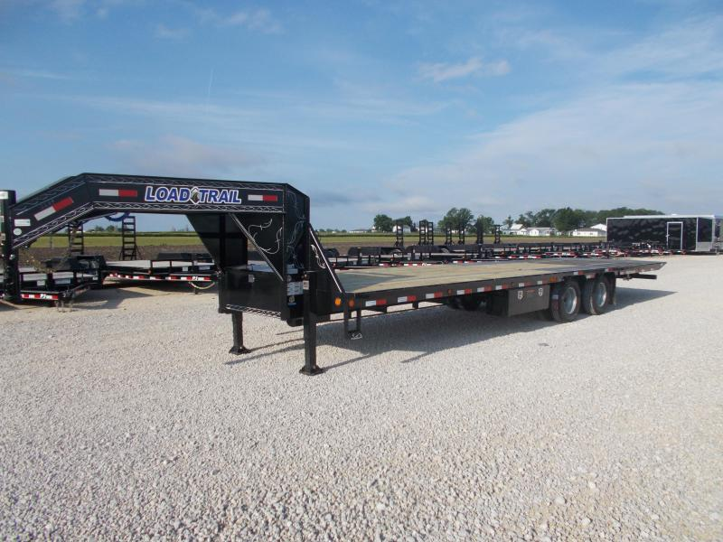 HYDRAULIC DOVETAIL Load Trail 102X32' 22K GVWR Flatbed Gooseneck Trailer Tandem Dual