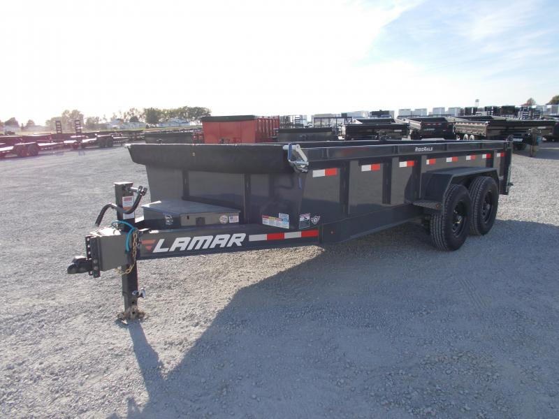 *NEW* Lamar 16' HD Dump Trailer 7GA Floor Low Pro