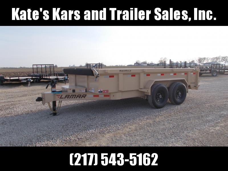 TAN Lamar 83X14' Low Pro  HD 7GA Floor Dump Trailer 14K LB in Ashburn, VA