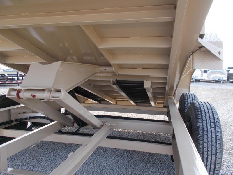 TAN Lamar 83X14' Low Pro  HD 7GA Floor Dump Trailer 14K LB