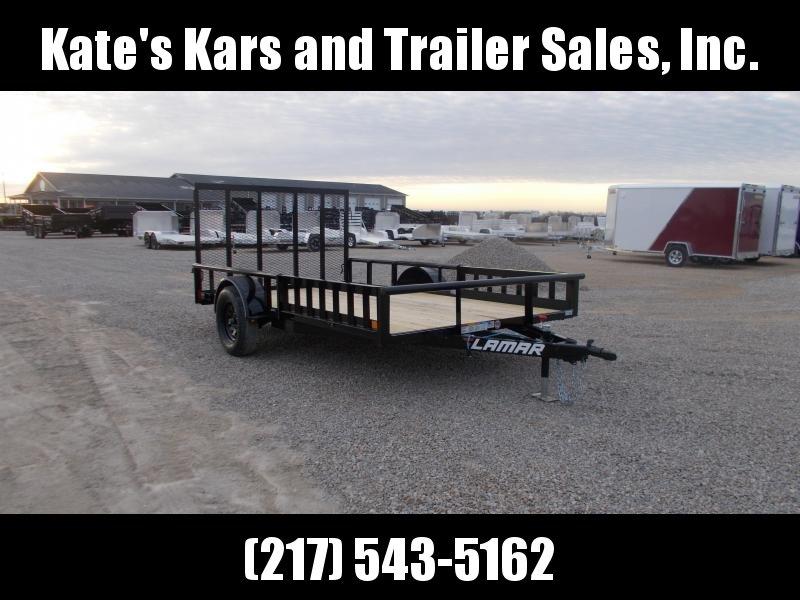 *NEW* Lamar 83X12' ATV Utility Trailer PipeTop Rail & Spring Loaded Gate