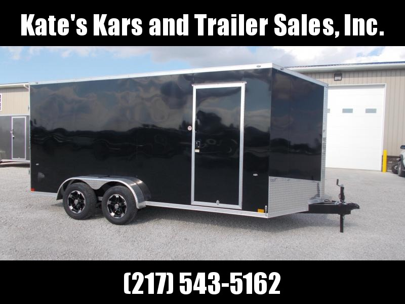 "Formula Trailers 7X16' 12"" Additional Height Screwless Sides Enclosed Cargo Trailer"