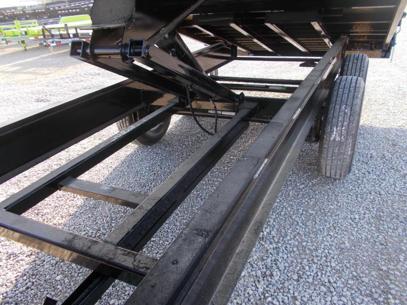 FOLD DOWN SIDES Load Trail Gooseneck 96x16' Deckover Dump trailer