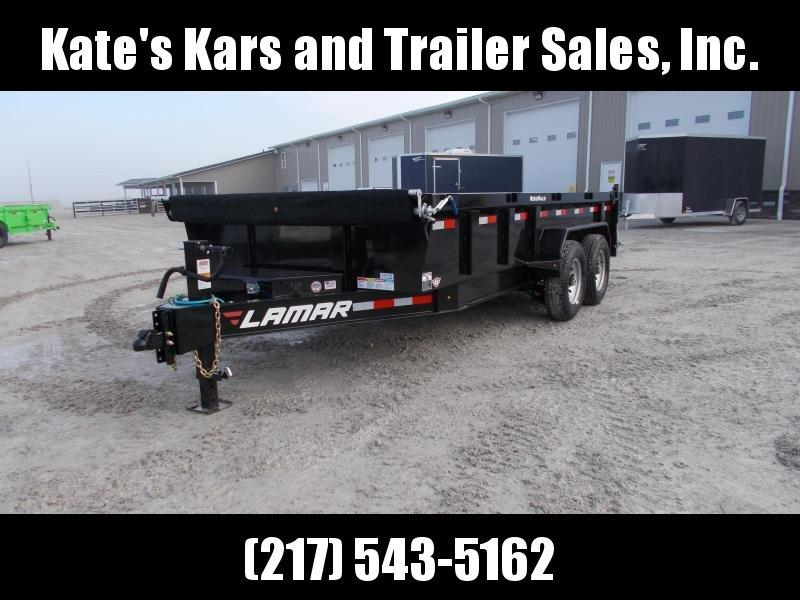 *NEW* Lamar Low Pro 83x16' dump trailer HD 7GA FLOOR