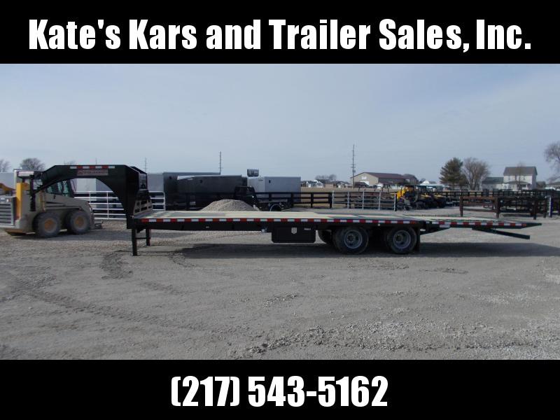 *NEW*  Midsota 32' Hydraulic Dovetail Gooseneck Trailer Equipment Trailer 23K LB