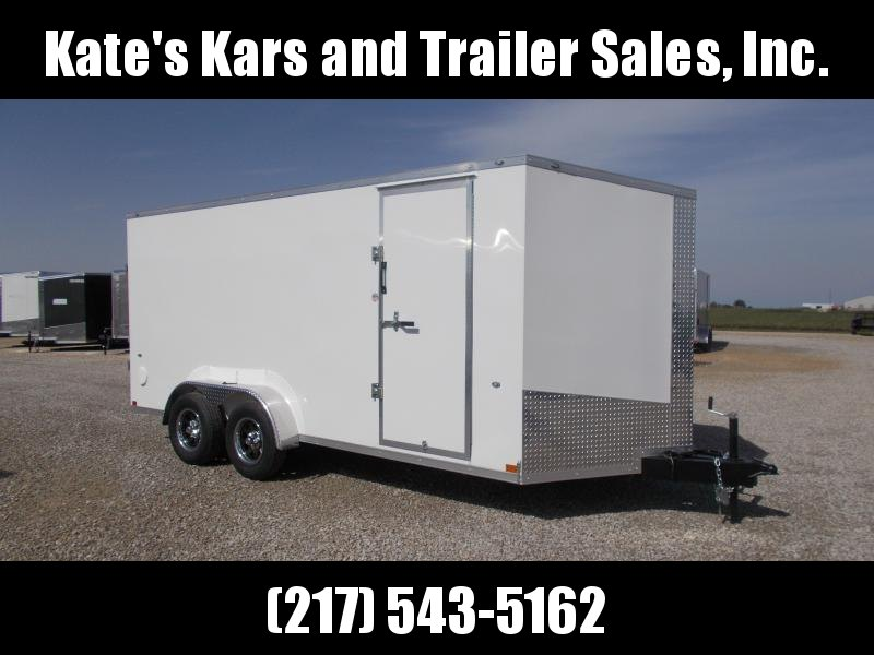 EXTRA TALL Formula 7X16'  Enclosed Cargo Trailer Screwless smooth