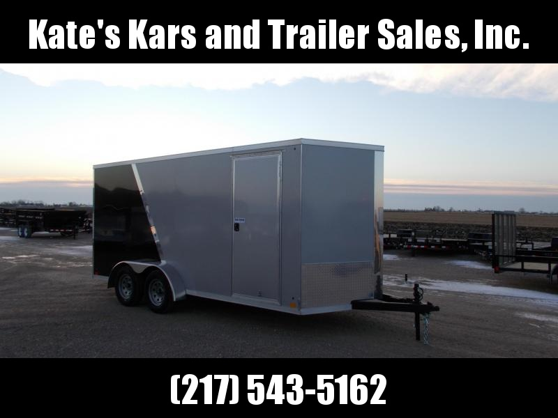 *NEW* Cross Trailers 7X16' Extra Tall Enclosed Trailer 2 Tone