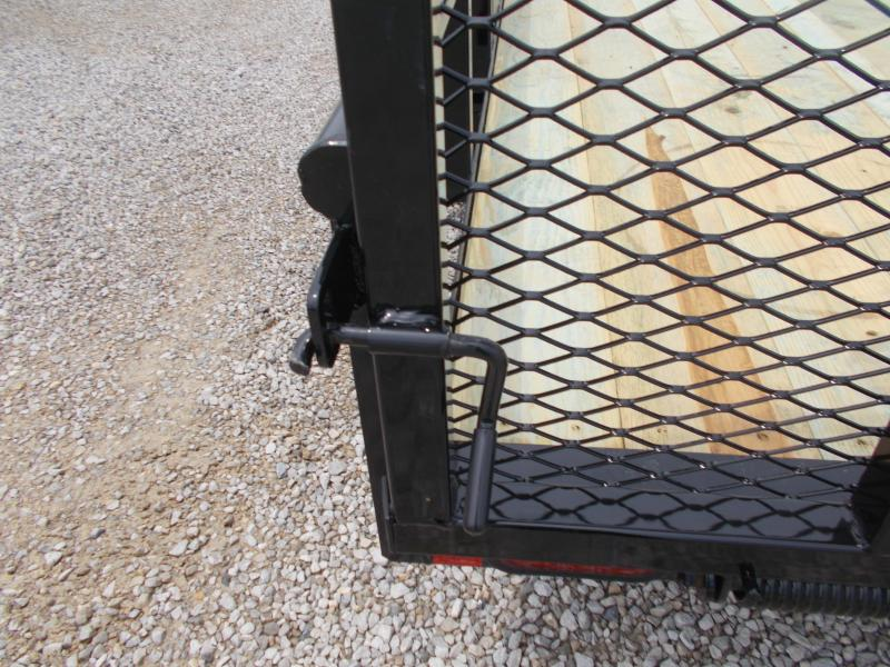 83X18' Utility Trailer w/ ATV Side Ramps Lamar Trailers Spring Assist Gate