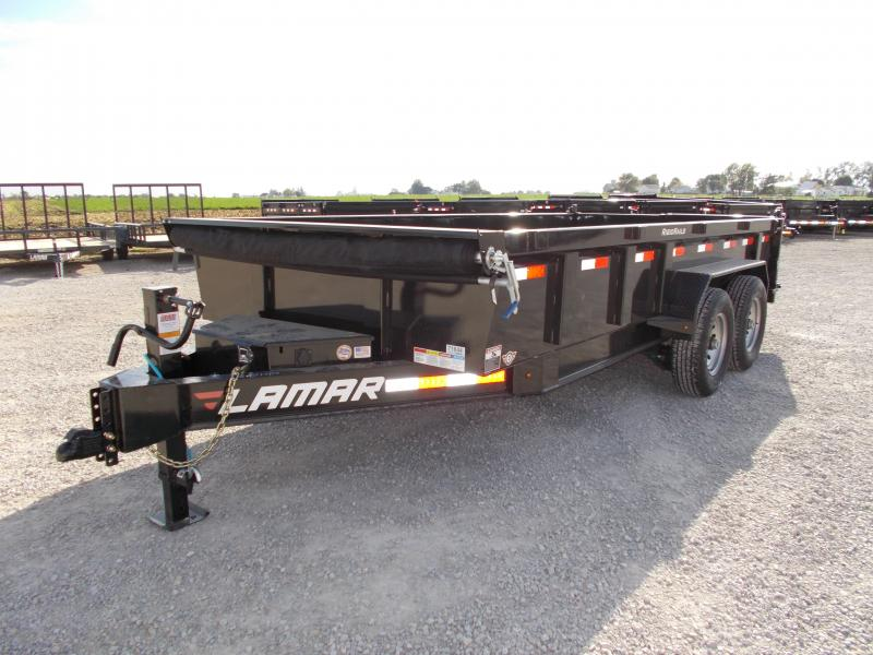*NEW* Lamar 16' Dump Trailer HD Low Pro 14K LB