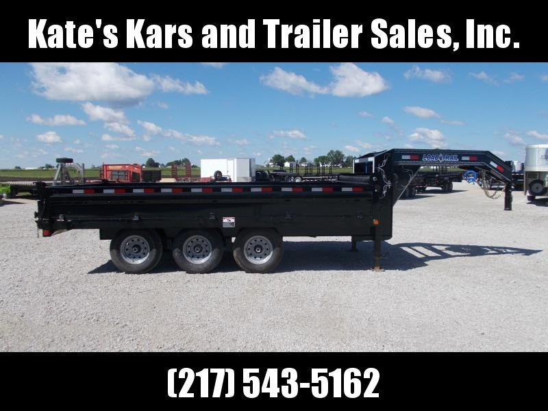 "96""X16'  Load Trail Deck Over Gooseneck 21K GVWR Dump Trailer for sale"