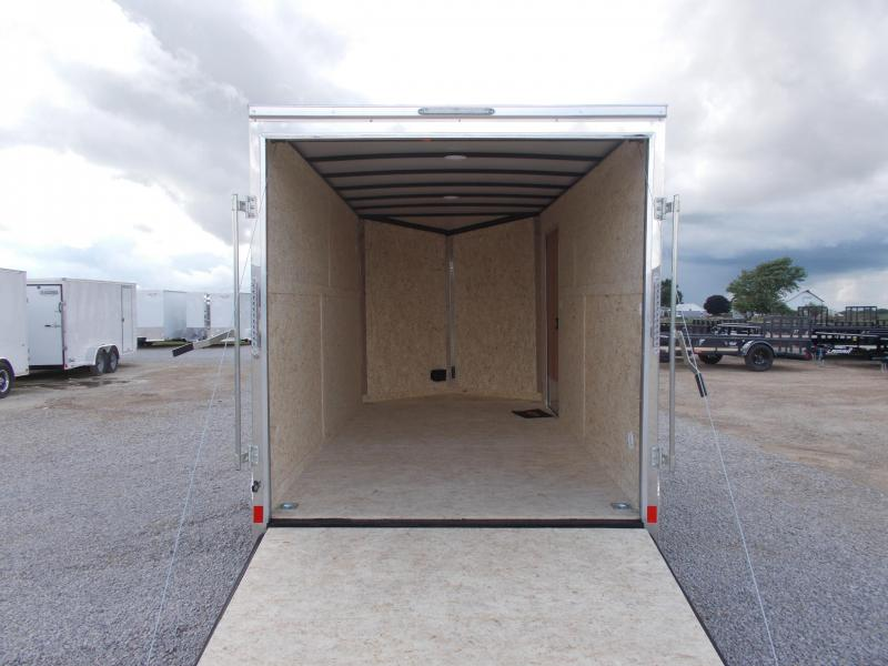 2020 Compass 7X14' Extra Tall 2 Tone Enclosed Cargo Trailer