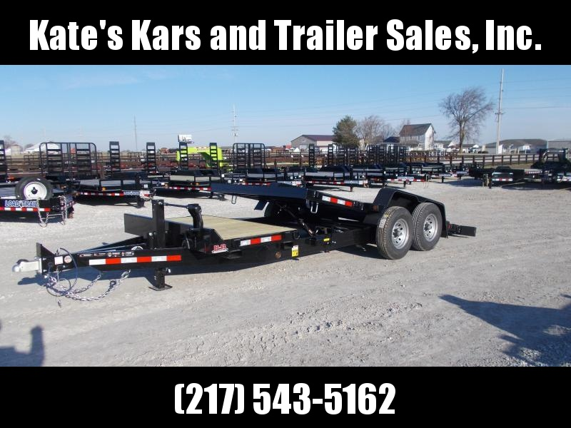 2019 B-B 20' Tiltbed Equipment Trailer Flatbed Trailer