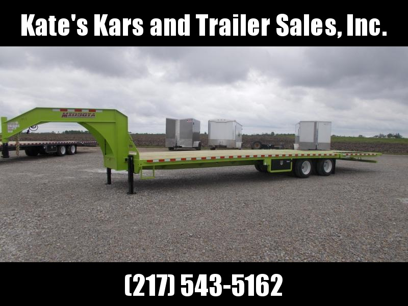 *NEW* Engineered I Beam Midsota 36' Hydro Tail Hydraulic Jacks Gooseneck Equipment Trailer