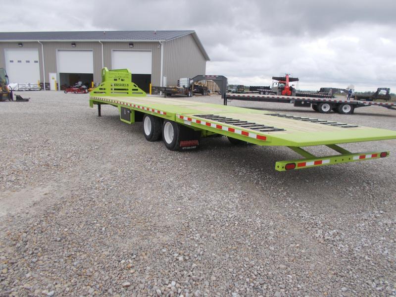 *NEW* Engineered I Beam Midsota 36' Hydro Tail Hydraulic Jacks Gooseneck Equipment Trailer